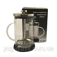"""Заварочный стеклянный чайник френч-пресс 800 мл """"6052"""" 1 шт."""