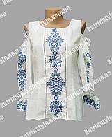 Эксклюзивная женская вышиванка на домотканом полотне