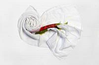 Шифоновый шарф Вильена Хризантема, белый