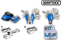 Многофункциональный инструмент Kraftixx  для ремонта велосипедов с 22-мя функциями