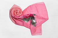 Шифоновый шарф Вильена Хризантема, розовый