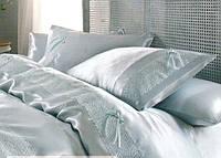 Комплект шелкового постельного белья с покрывалом Karaca Home Tugce su yesil
