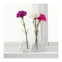 """ИКЕА """"СМИККА"""" Цветок искусственный, гвоздика, темно-розовый, 30 см"""