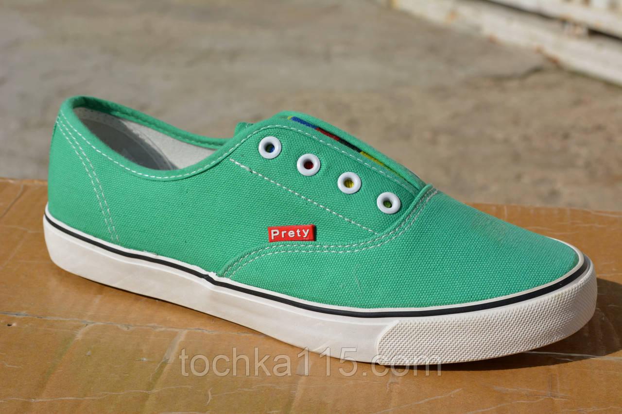 Кеды низкие кеды Vans зеленые , копия