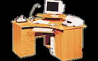 Стол компьютерный, угловой, офисный, с тумбой под манитор и полочкой под клавиатуру разм 75х75х130 см Стол 130