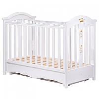 Детская кроватка оптом Трия Royal (маятник-ящик) белая купить в Украине опт 7 км