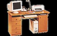 Стол компьютерный, прямоугольный, офисный, с полочкой под клавиатуру и СБлок, размер 75х67х137 см Стол 140
