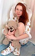 Модная стильная подростковая пижама с носками для сна