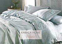 Покрывало+шелковый постельный комплект KARACA HOME  Tugce  su yesil