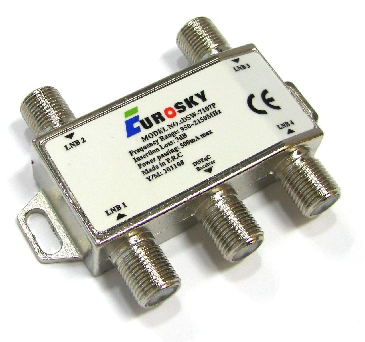 Коммутатор DISEqC 4x1 внутренний Eurosky DSW-7107P