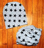 Детские комплекты шапка+хомут Ассорти , фото 1