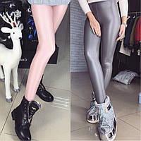 Модный тренд! Перломутровые лосины эко-кожа