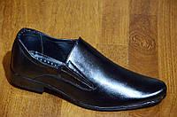 Туфли классические мужские без шнурков черные удобные Львов. (Код: 420а)