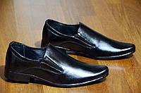 Туфли классические мужские без шнурков черные удобные Львов 2017. (Код: 420)