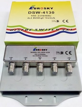 Коммутатор DISEqC 4x1 внешний Eurosky DSW-4130