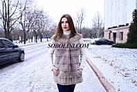 """СКИДКА! Жилет из меха скандинавской норки с изящными плечиками """"Maria"""", 44 размер"""