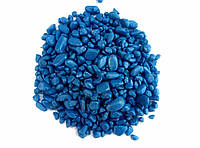 Гравий цветной (синий) декоративный для сада , окрашенная речная  галька(194)