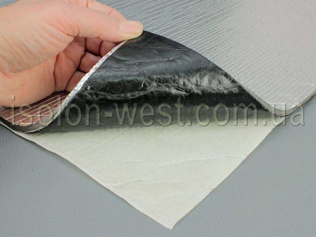 Вибро-шумка 2в1  ФИ8-Ф4.0 (700х500 мм) - вибро и шумоизоляция в одном листе.