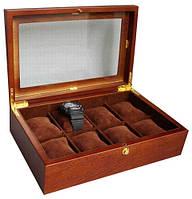 Подарочная шкатулка для часов на 8 ячеек деревянная