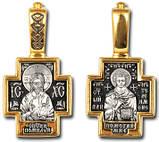 Православный серебряный крест Господь Вседержитель. Святой Пантелеимон 8723-R, фото 2