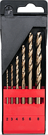 Набор сверл для металла Yato hss 6 элементов 2, 3, 4, 5, 6, 8 мм YT-41602