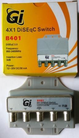 Коммутатор DISEqC 4x1 внешний Galaxy Innovation B401