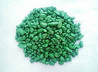 Декоративная цветная зеленая каменная крошка галька гравий для сада  , клумб,(63191)