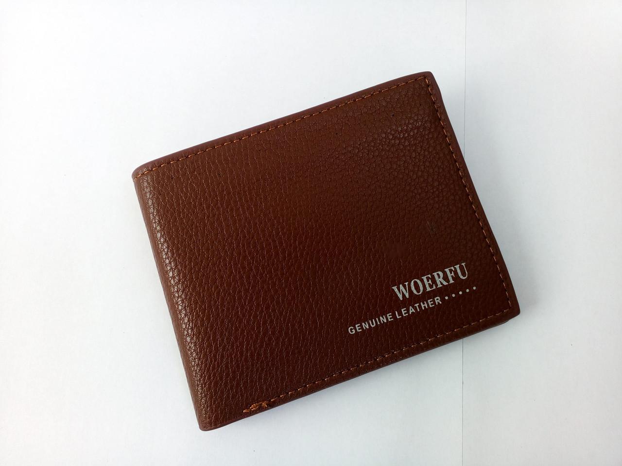 Мужской  кошелек натуральная кожа коричневый