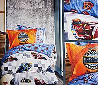 Подростковое постельное белье  160x220 KARACA HOME motokross mavi