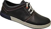 Кожаные мужские спортивные туфли Batich, качество,синие