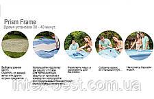 Intex 28712 - круглый каркасный бассейн Prism Frame 366x76 см, фото 3