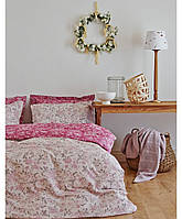 Комплект постельного белья евро KARACA HOME сатин Fireze розовый