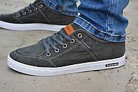 Мужские спортивные туфли кеды низкие хаки защитный зеленый