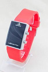 Наручные LED Adidas часы 2 цвета(Фиолетовый,красный)