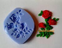 Силиконовый молд  веточка розы