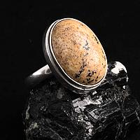 Яшма песочная, серебро 925, кольцо, 348КЯ