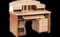 Стол компьютерный,офисный, с полочкой  клавиатуры и тумбой под манитор, размер 96х70х120 см Офис Менеджер 120
