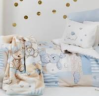 Постельное белье в кроватку   KARACA HOME  Banny mavy с зайками