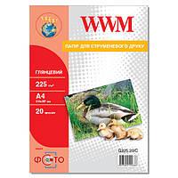 Фотобумага WWM Глянцевая 225г/м кв, А4, 20л (G225.20/C)