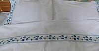 Постельное белье с вышивкой Барвинок двуспальное евро Бязь Гост