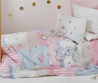 Постельное белье в кроватку   KARACA HOME  Banny pembe с зайками