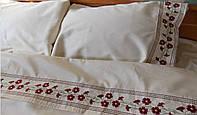 Постельное белье с вышивкой Барвинок двуспальное евро сатин