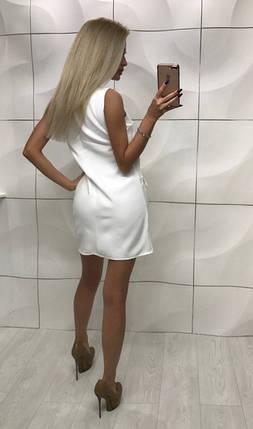 Элегантное летнее платье без рукавов ft-350 белое, фото 2