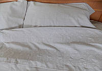 Постельное белье с вышивкой Велес двуспальное евро полулен