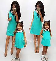 Family look  комплект платьев мама и дочка в разных цветах