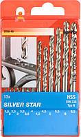 Набор сверл по металлу SILVER STAR KWB 1,5-6,5 мм, 13 шт. (205840)