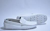Мокасины мужские кожаные белые Eurostock