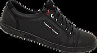 Кожаные мужские спортивные туфли TOMMY HILFIGER, качество, черные