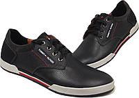 Кожаные мужские спортивные туфли Tommy Hilfiger, качество, синие