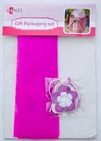 "Набор для упаковки подарка 40*55см бело-розовый 952065 ""Santi"""